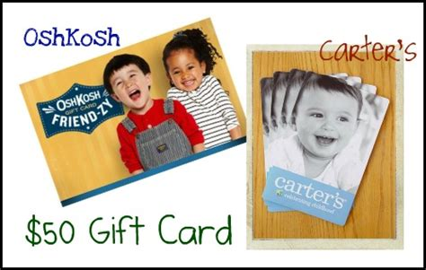 Carter S Oshkosh Gift Card - 50 gift card giveaway to carter s oshkosh b gosh hoosier homemade