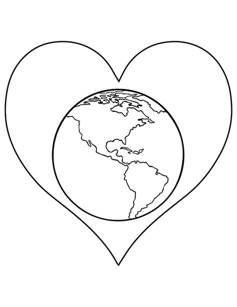 heart earth coloring pages earth heart coloring coloring pages