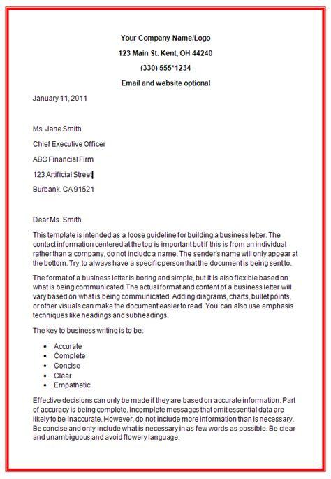 Business Heading For Letter Business Letter Formats