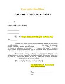 serving notice to tenants template notice to tenant s of sale realcreforms