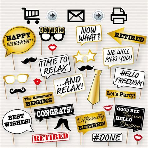 printable retirement photo booth props 15 best retirement party ideas images on pinterest