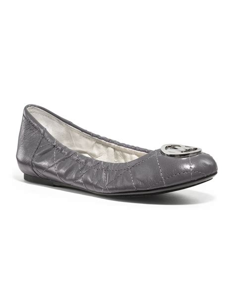 Michael Kors Fulton Quilted Ballet Flats by Michael Kors Michael Fulton Quilted Ballerina Flat In Gray