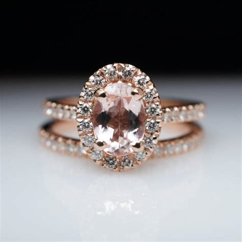 Handmade Gold Engagement Rings - oval morganite engagement ring gold engagement ring