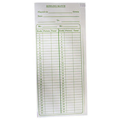 bowls score cards template accessories bowls