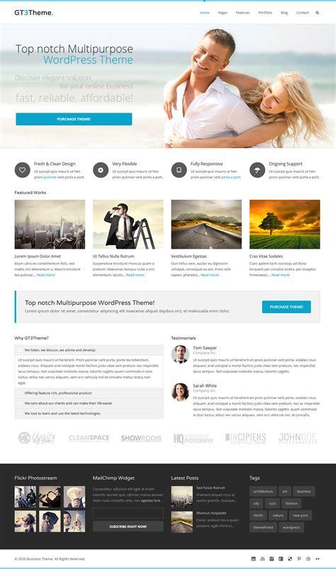 wordpress themes free for it business free business wordpress theme gt3