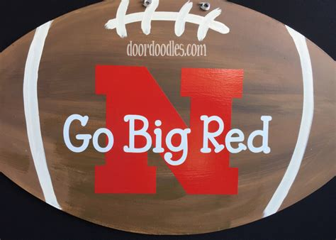 8 Front Door Nebraska N Football Front Door Hanger Decoration Hanging