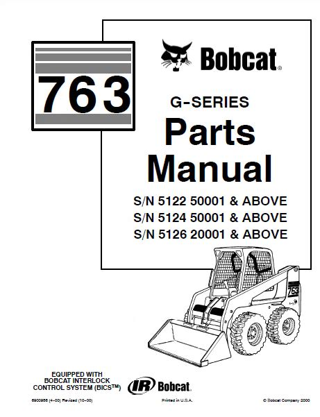 bobcat 763 parts diagram bobcat 763 g series skid steer loader parts manual pdf