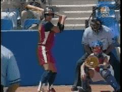 jessica mendoza swing hitting gif find share on giphy