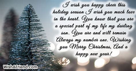 happy cheer  christmas message  son