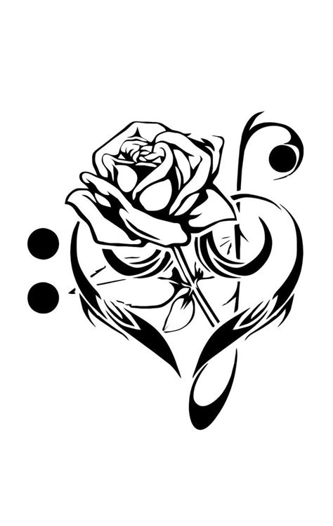 music and flower tattoo designs flower drawing flower clip
