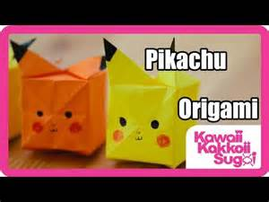 How To Make An Origami Pikachu Step By Step - pikachu origami how to fold hd