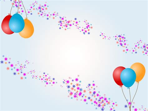 powerpoint 2010 birthday themes balloons with stars for birthday ppt backgrounds cartoon