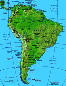 south america map with mountains maps of south america