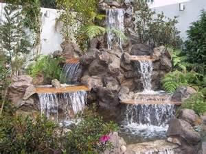 Patio Waterfalls Ideas Foto Dise 241 O Green Paradise Soluci 243 N Verdes Cascada De