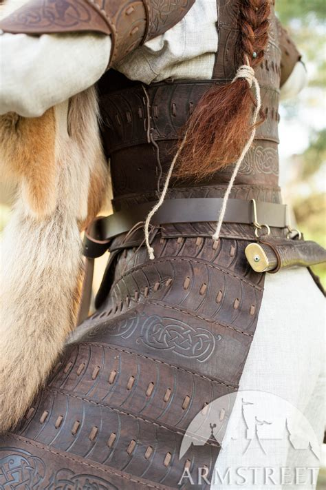 vikings leather armour shieldmaiden   brown leather black leather