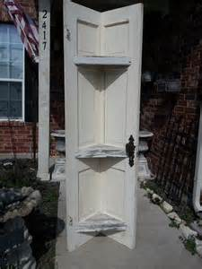 corner shelf made from doors shabby chic