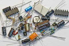 electronics parts resistors electronic parts resistors and diode stock photo image 44149902