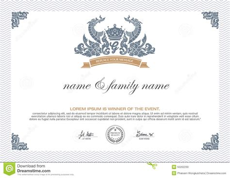 home design certificate design template unique patterned certificate design template stock vector image 50202230