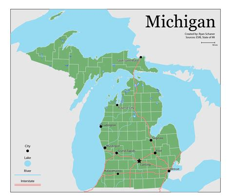 physical map of michigan michigan physical features map swimnova