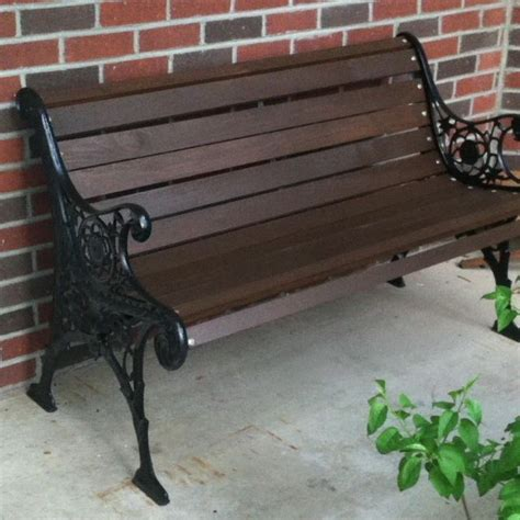 bench refinish my newly refinished park bench refinishing projects