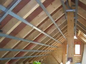 comment installer l ossature sous toiture pour met