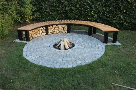 curved outdoor bench diy garden fireplace with bench benches fireplaces and diy