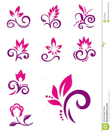 Kitchen Designs And Prices by Floral Design Elements Vector Flower Icons Stock Photo