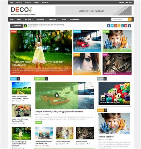 blogger templates for coupons deco mag magazine blogger template 187 abtemplates com