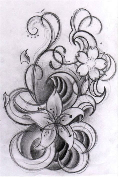 curly tattoo designs curly flowers by willemxsm on deviantart
