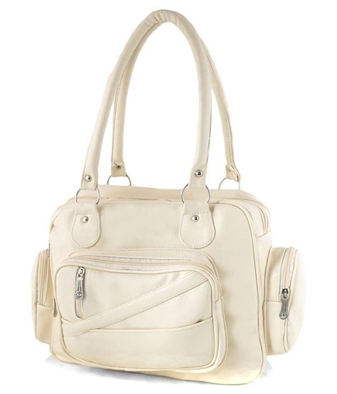 white leather bag smartways leather shoulder bag white buy smartways leather shoulder bag white at low