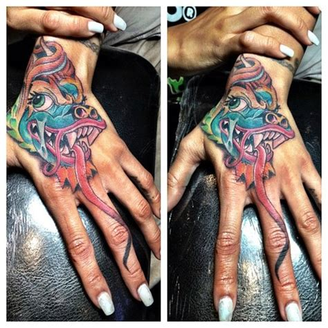karrueche tran hand tattoo really dope or really dumb karrueche s vibrant