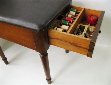 sewing bench vintage sewing stool with storage drawer sewing bench sewing