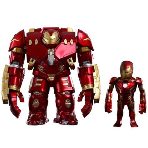 Original Kotobukiya Vs Hulkbuster Set toys marvel age of ultron series 1 iron xliii battle damaged version and