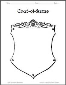 template for coat of arms coat of arms worksheet 3 student handouts