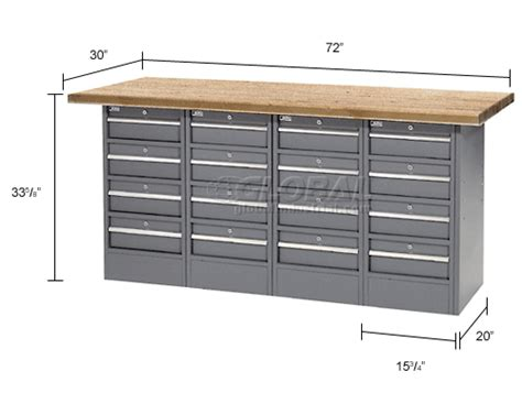Shop Top Drawer cabinet work benches heavy duty 72 quot w x 30 quot d shop top