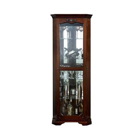 corner kitchen curio cabinet furniture of america lennie traditional corner curio