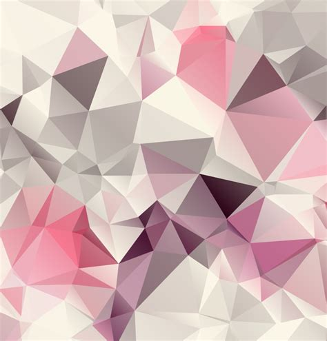 geometric pattern background vector pink geometric background design vector free vector