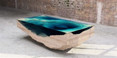 Topography Coffee Table the abyss table by duffy london an ocean map in layered