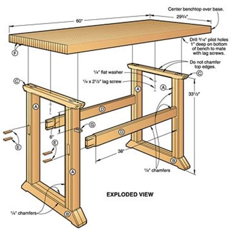 building a traditional woodworking bench five of fury ubergizmo