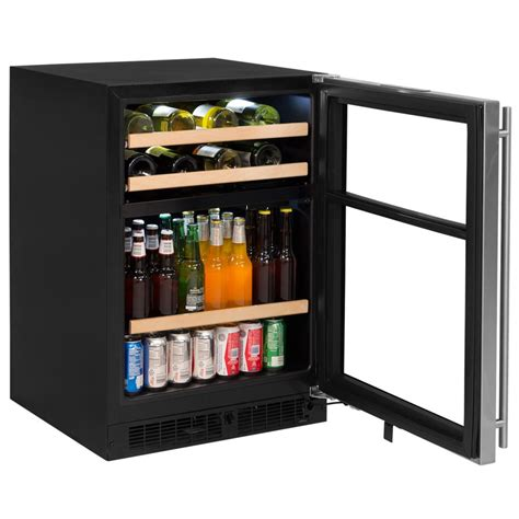 glass door wine beverage center 24 quot dual zone wine and beverage center