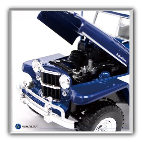 jeep station wagon 2018 1955 willys jeep station wagon by lucky die cast 1 18