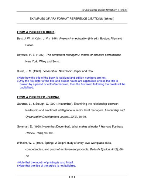sle citation page apa style cover letter templates