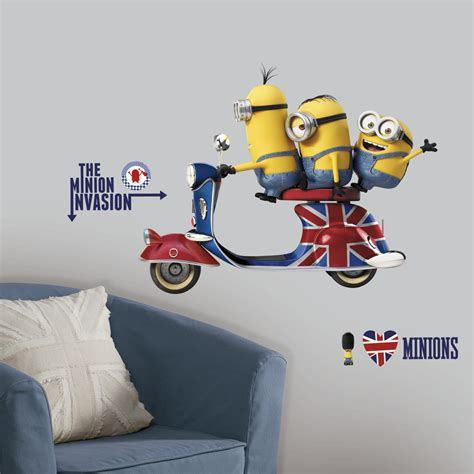 Movie Wall Murals roommates rmk3002gm minions the movie peel and stick giant