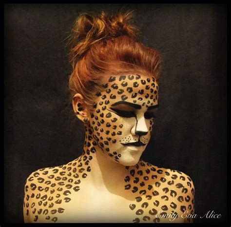 Snazaroo Leopard Painting Kit leopard painting done using snazaroo paints and makeup makeup faces