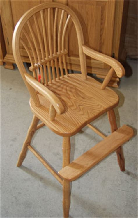 Childs Dining Chair Amish Made Sheaf Back Toddler Chair In Solid Oak
