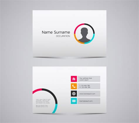 name card design template free name card templates 18 free printable word pdf psd