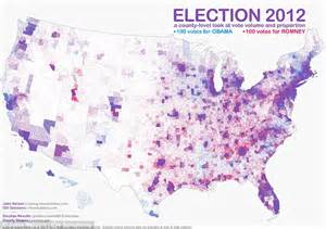 the purple states of america and blue states