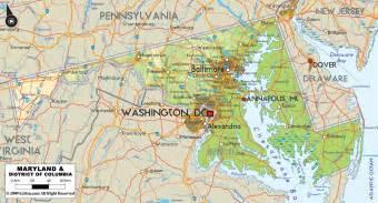 maryland map free large images