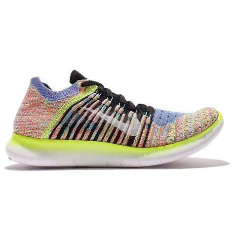 multi colored nike shoes wmns nike free rn flyknit running multi color womens