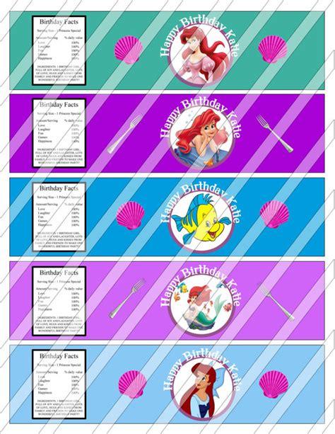 free printable ariel birthday decorations disney little mermaid princess ariel printable water